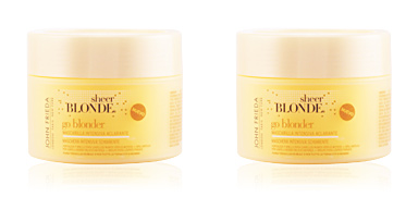 Shiny hair mask SHEER BLONDE mascarilla aclarante intensiva John Frieda