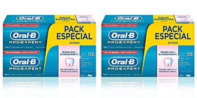 PRO-EXPERT SENSIBILIDAD&BLANQUEANTE DENTIFRICO LOTE 2 pz Oral-b