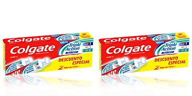 Colgate TRIPLE ACTION PASTA DENTIFRICA LOTE 2 pz