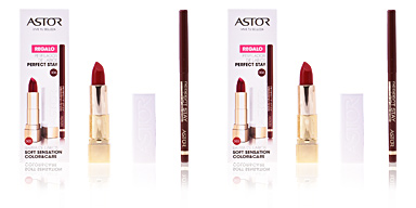 Astor SOFT SENSATION #502-tender cherry + lip liner