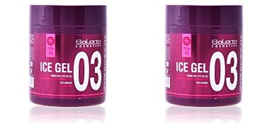 Producto de peinado ICE GEL strong hold styling gel Salerm