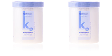 Hair mask for damaged hair KERATIN SHOT mask deep impact plus Salerm