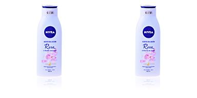 Body moisturiser ACEITE EN LOCIÓN rosa & argan Nivea