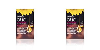 OLIA coloración permanente #6,35-rubio caramelo 4 pz Garnier Olia