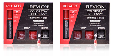 COLORSTAY GEL ENVY REDS + MASCARA lote 4 pz Revlon Make Up