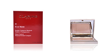 Clarins EVER MATTE poudre compacte #02-transparent medium 10 gr