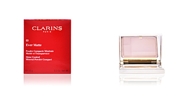 Clarins EVER MATTE poudre compacte #03-transparent warm 10 gr