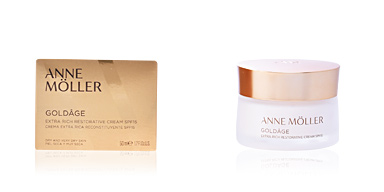 Tratamento para flacidez do rosto GOLDÂGE extra rich restorative cream SPF15 Anne Möller