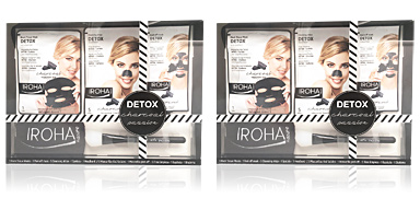 Cosmetic Set DETOX CHARCOAL BLACK PASSION Iroha