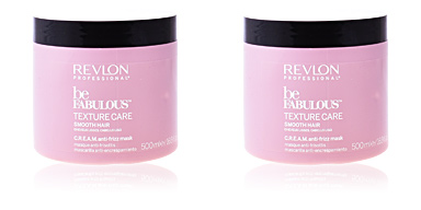 Mascarilla alisadora BE FABULOUS C.R.E.A.M anti-frizz mask Revlon