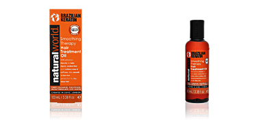 Trattamento idratante per capelli BRAZILIAN KERATIN smoothing therapy hair treatment oil Natural World