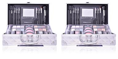 BON VOYAGE travel makeup case silver The Color Workshop