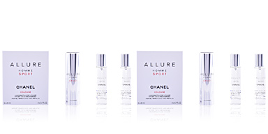 ALLURE HOMME SPORT COLOGNE travel spray and two refills 3 x 20 ml Chanel