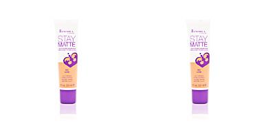 Foundation makeup STAY MATTE liquid mousse foundation Rimmel London