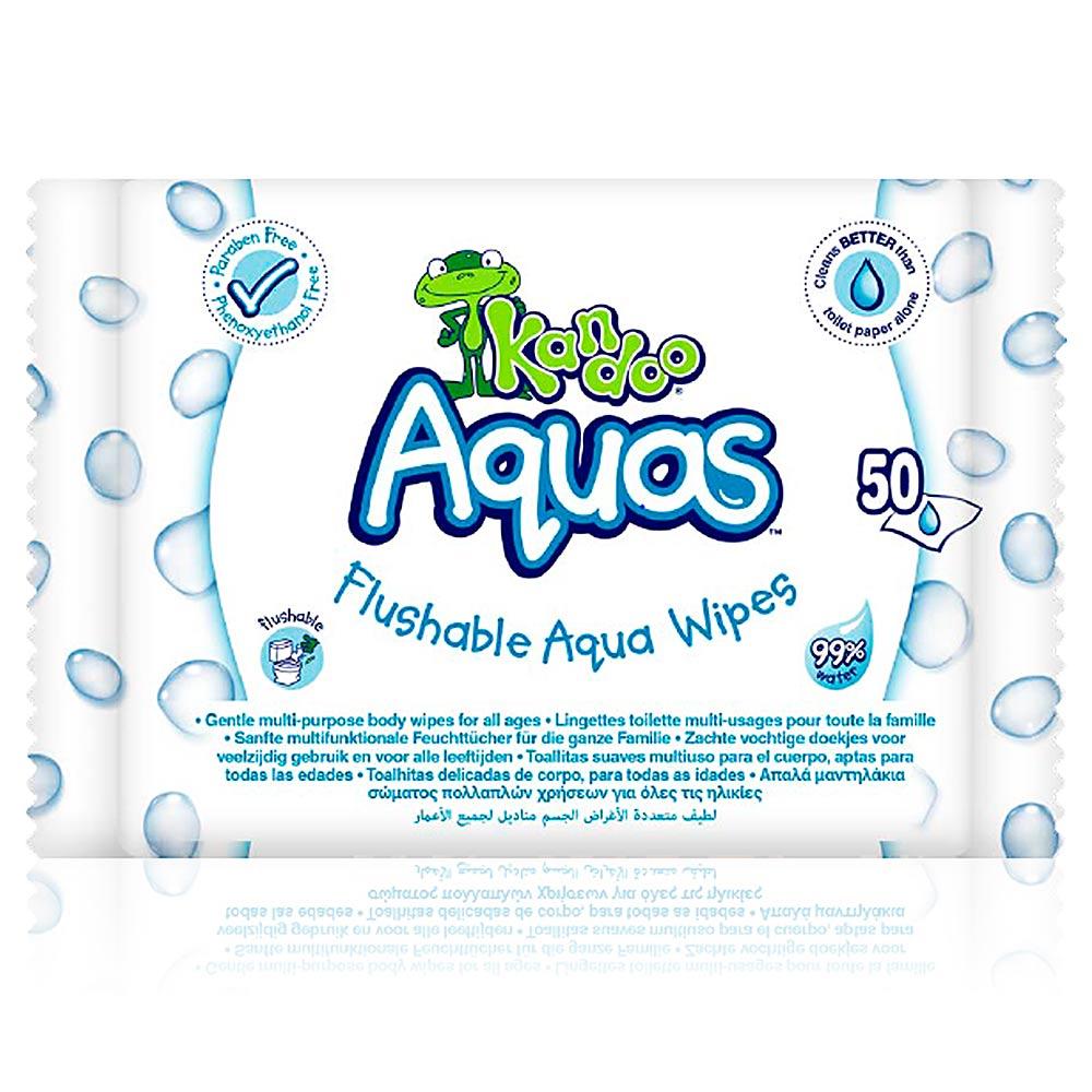 KANDOO AQUAS flushable aqua wipes