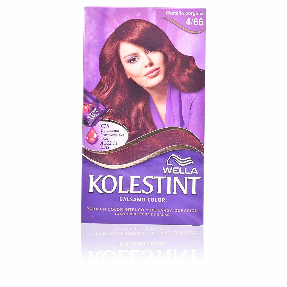 KOLESTINT tinte bálsamo color #4,66 castaño borgoña
