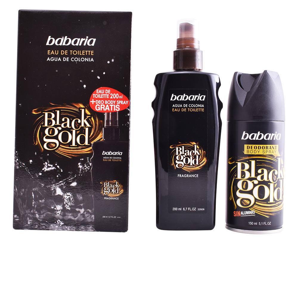 BABARIA MEN BLACK GOLD FRAGANCE LOTE