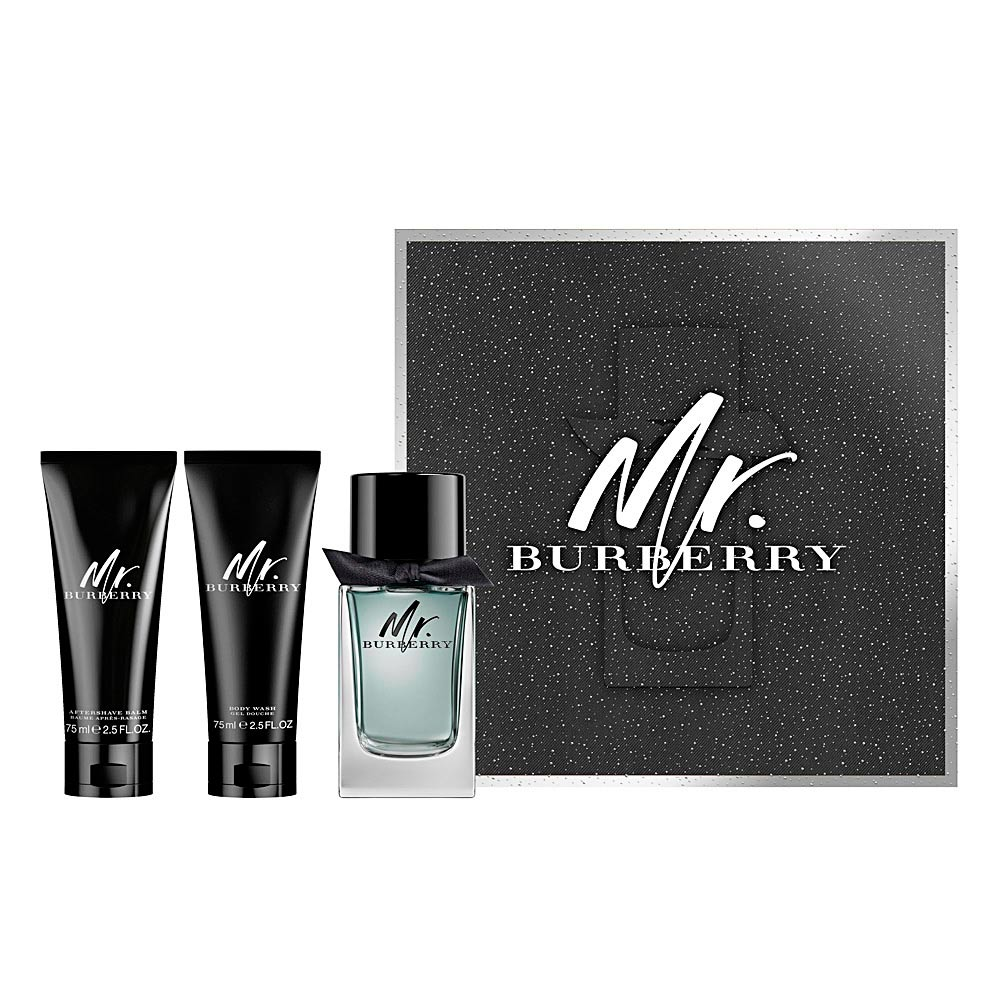 Burberry Eau De Toilette Mr Burberry Set Products Perfumes Club