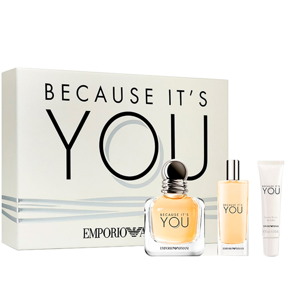 Giorgio Armani Eau De Parfum Because Its You Coffret Sur Perfumes Club