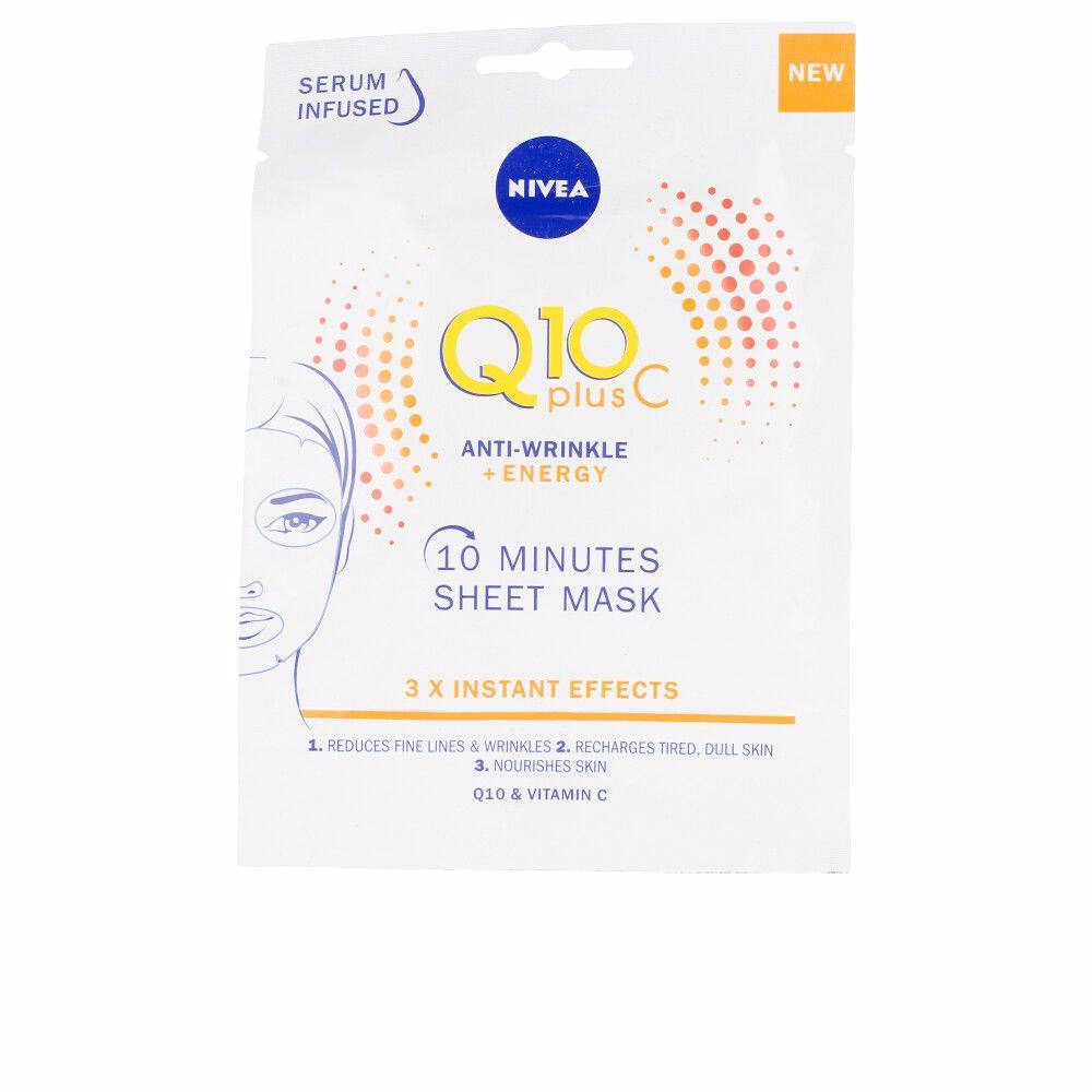 Q10+ VITAMINA C anti-arrugas+energizante mascarilla facial