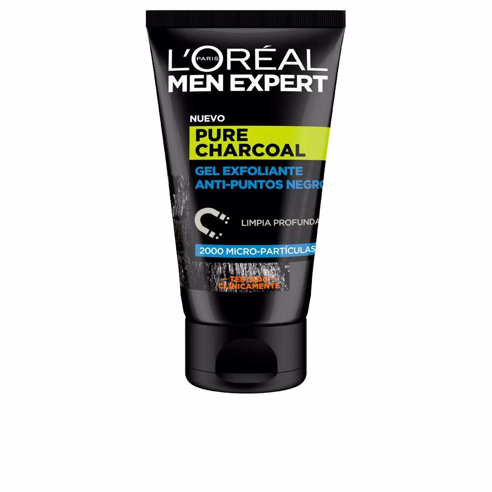 MEN EXPERT pure charcoal gel exfoliante p.negros