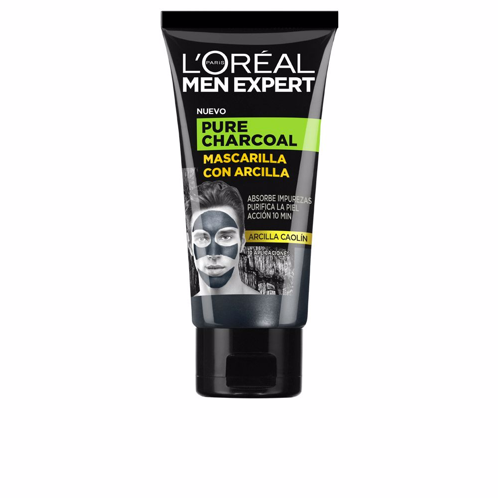 MEN EXPERT pure charcoal mascarilla arcilla