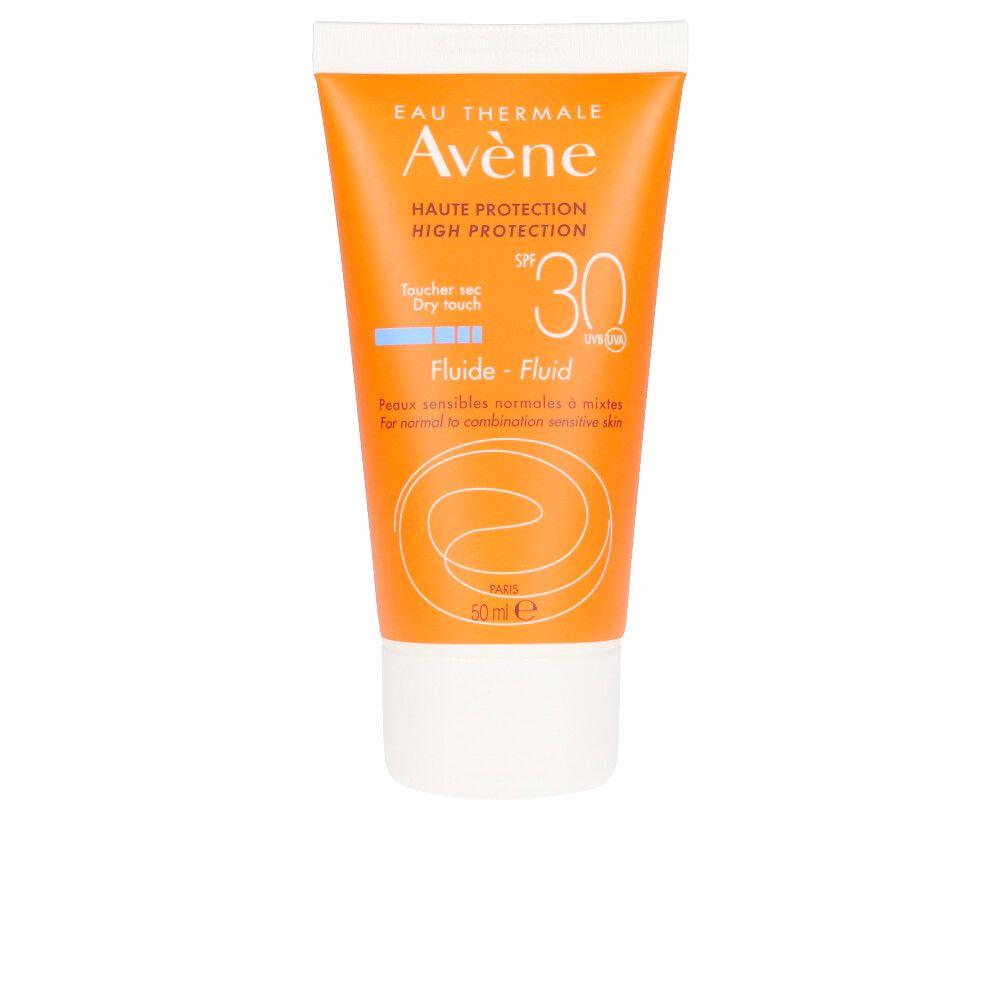 SOLAIRE HAUTE PROTECTION fluide toucher sec SPF30