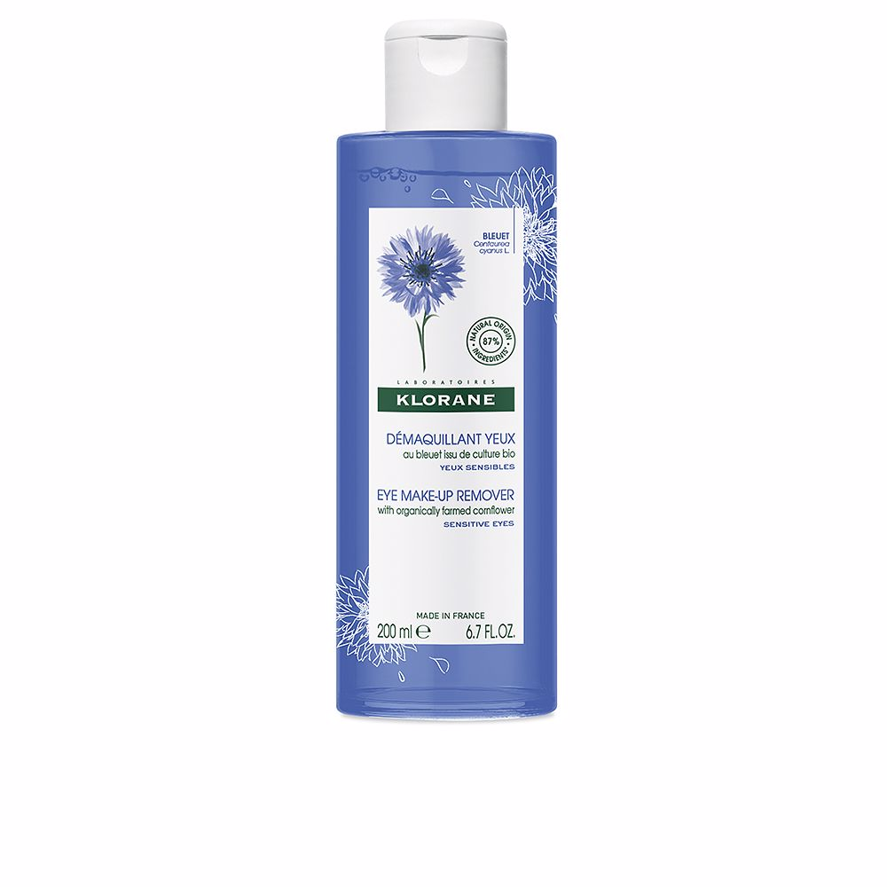 EYE MAKE-UP REMOVER with organically farmed cornflower