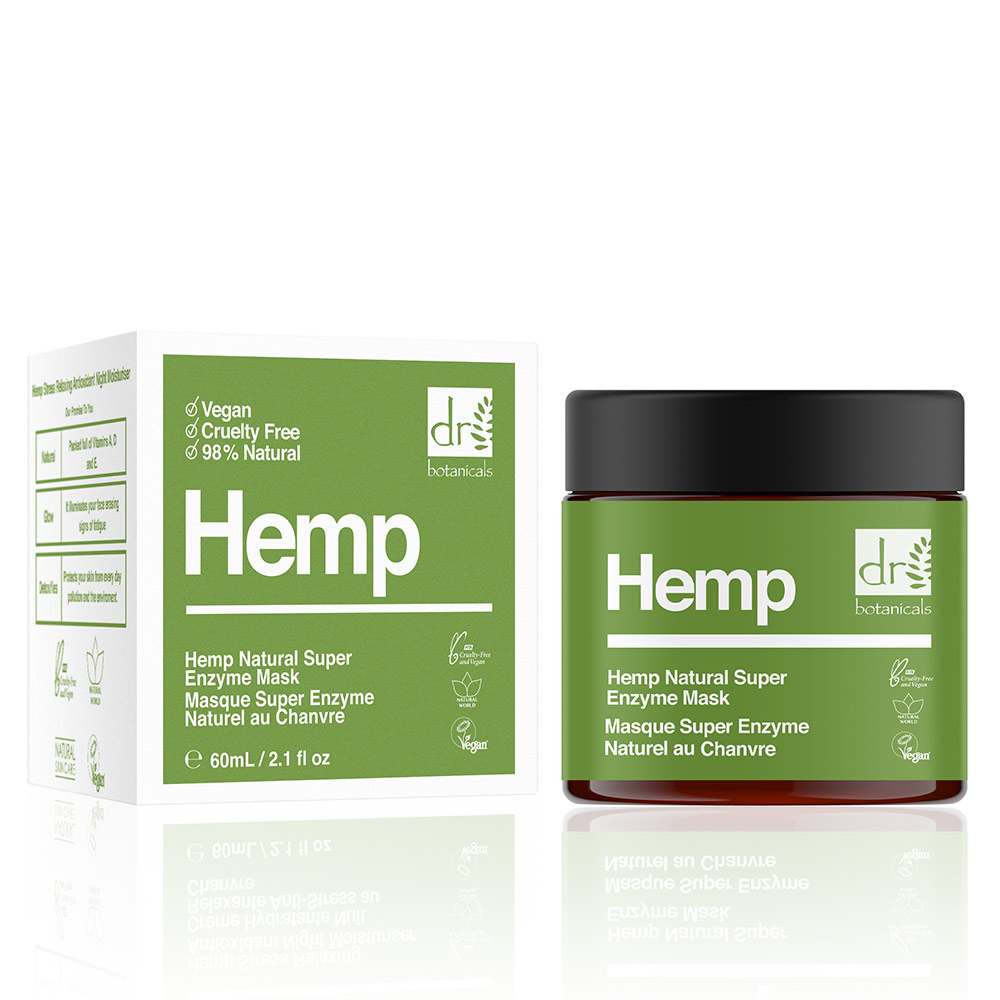 HEMP infused super natural enzyme mask