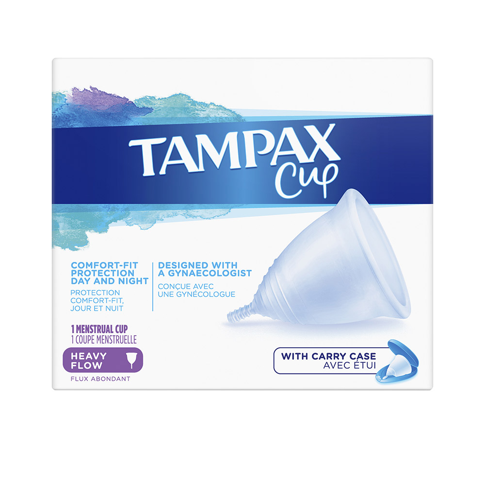 TAMPAX COPA flujo menstrual abundante