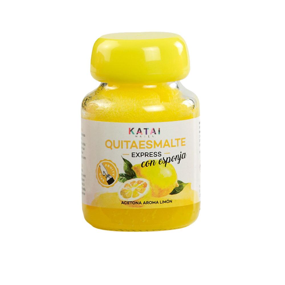 QUITAESMALTE ESPONJA ACETONA aroma limón