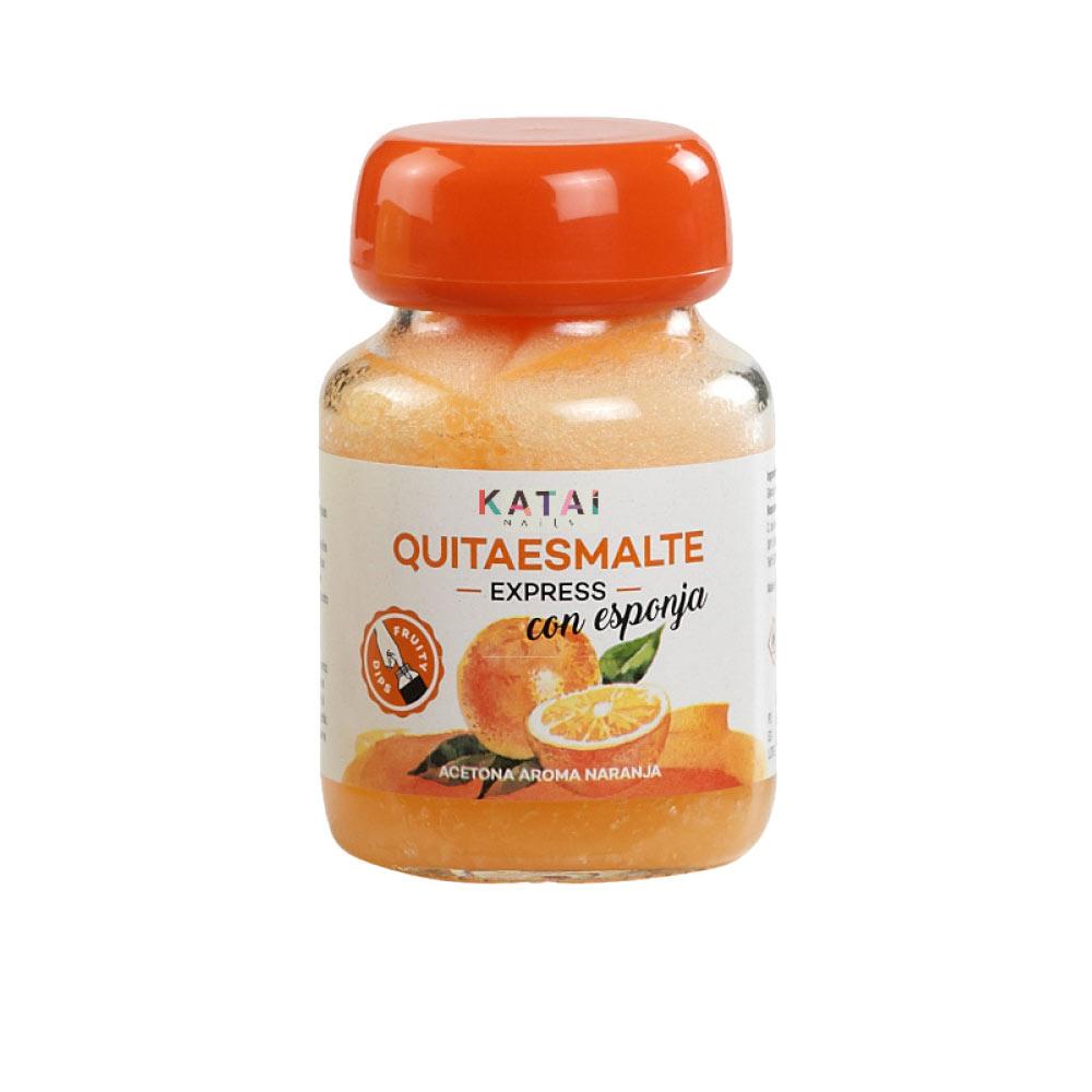 QUITAESMALTE ESPONJA ACETONA aroma naranja