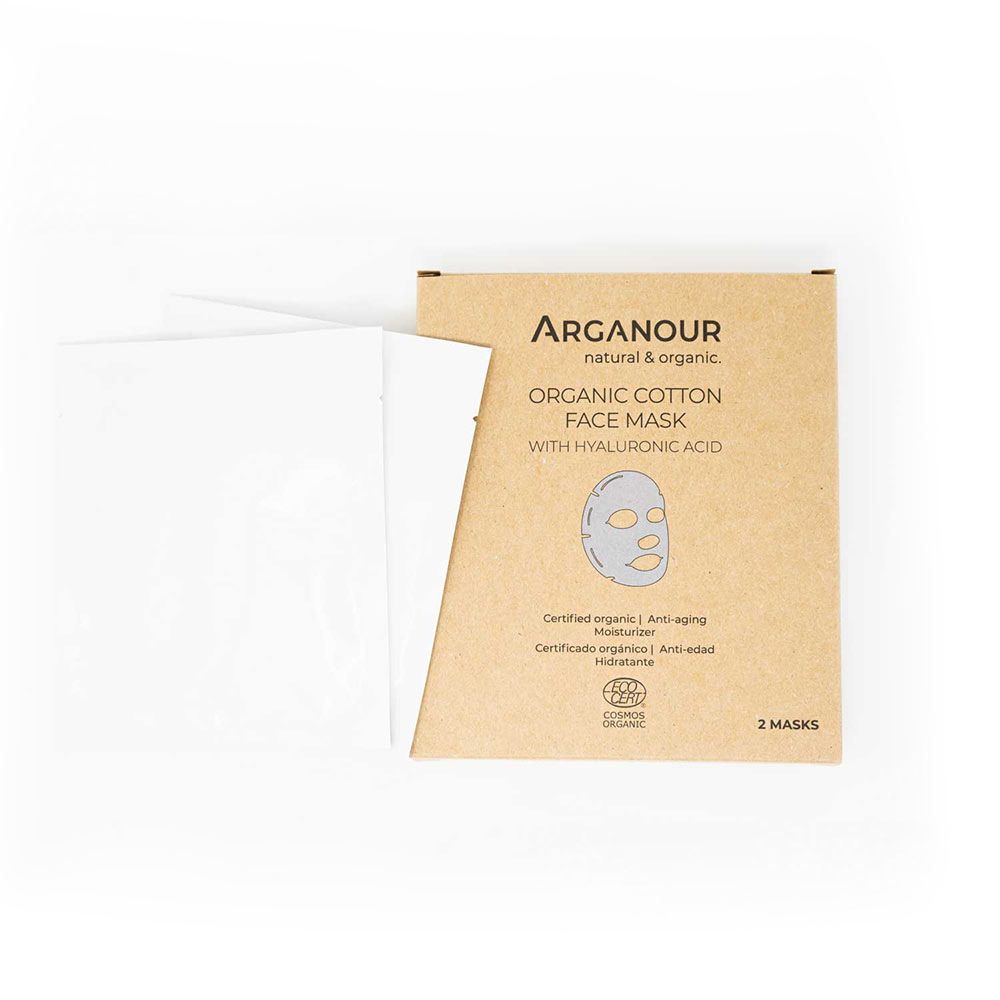 ORGANIC COTTON face mask with hylaruronic acid