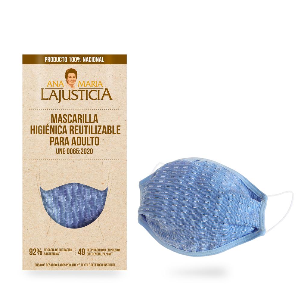 MASCARILLA higiénica reutilizable 30 lavados