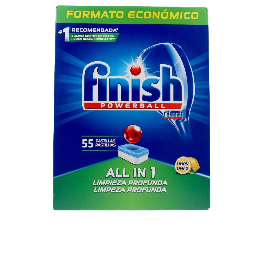 FINISH POWERBALL ALL IN ONE lavavajillas limón pastillas