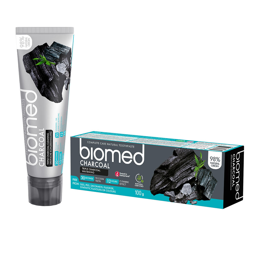 BIOMED CHARCOAL dentífrico