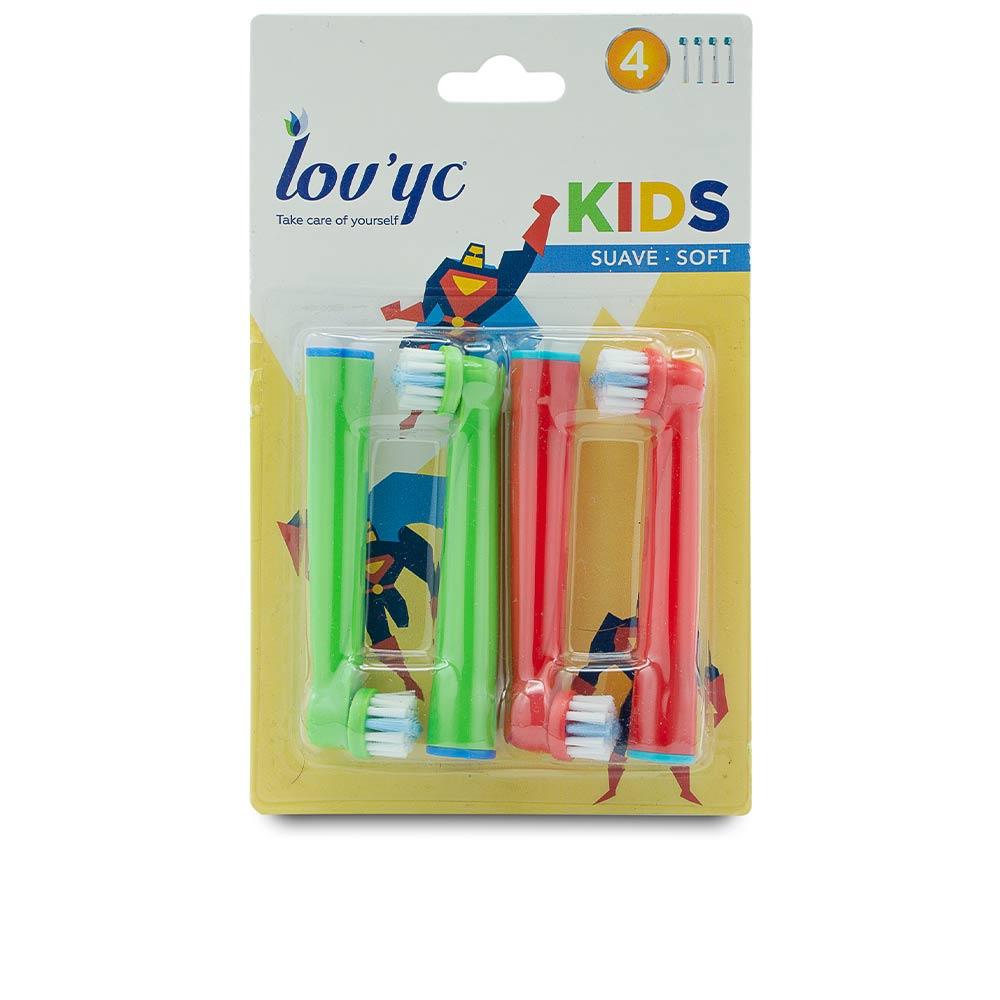 LOVYC Recambio cepillo eléctrico Kids superhéroes suave