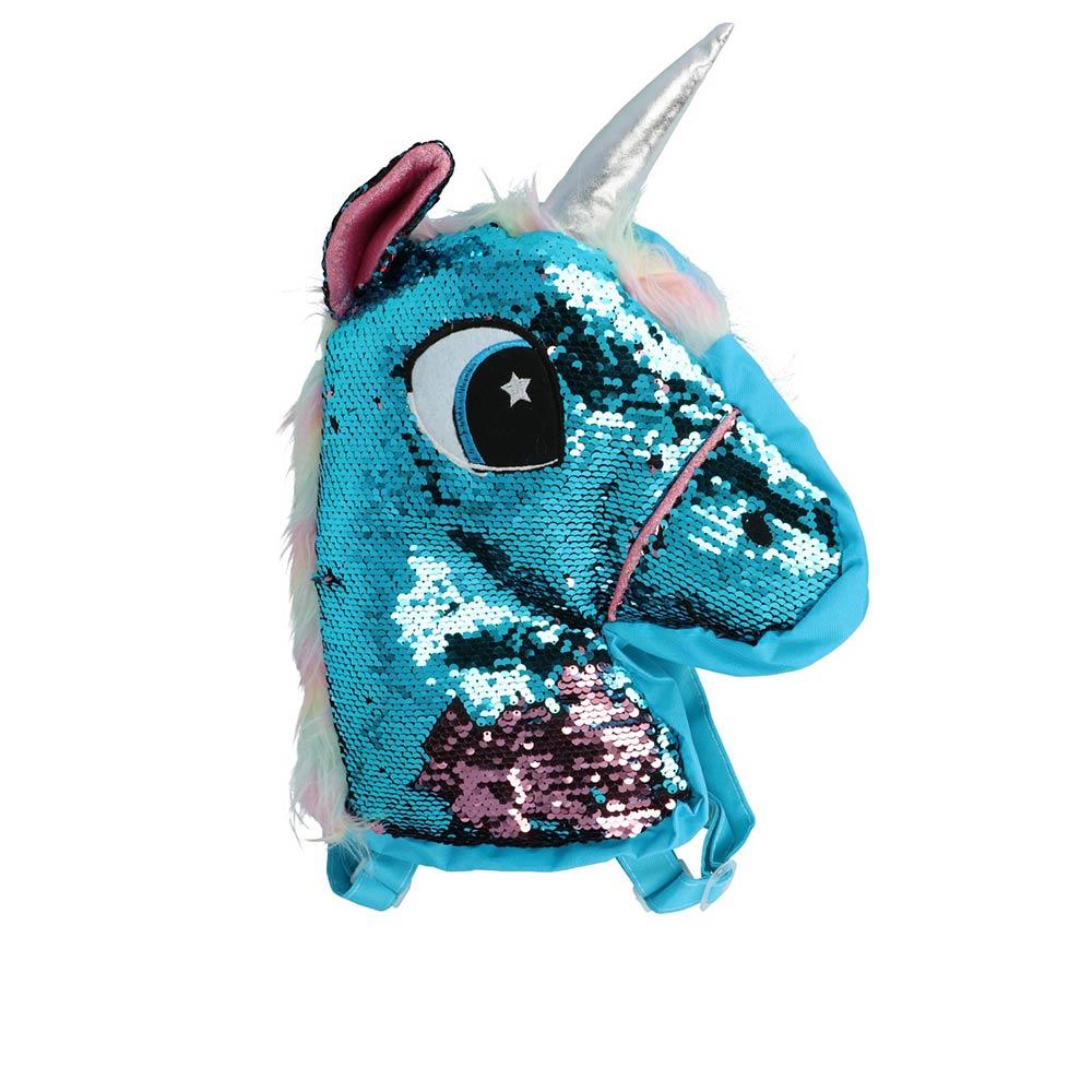MOCHILA LENTEJUELAS unicornio
