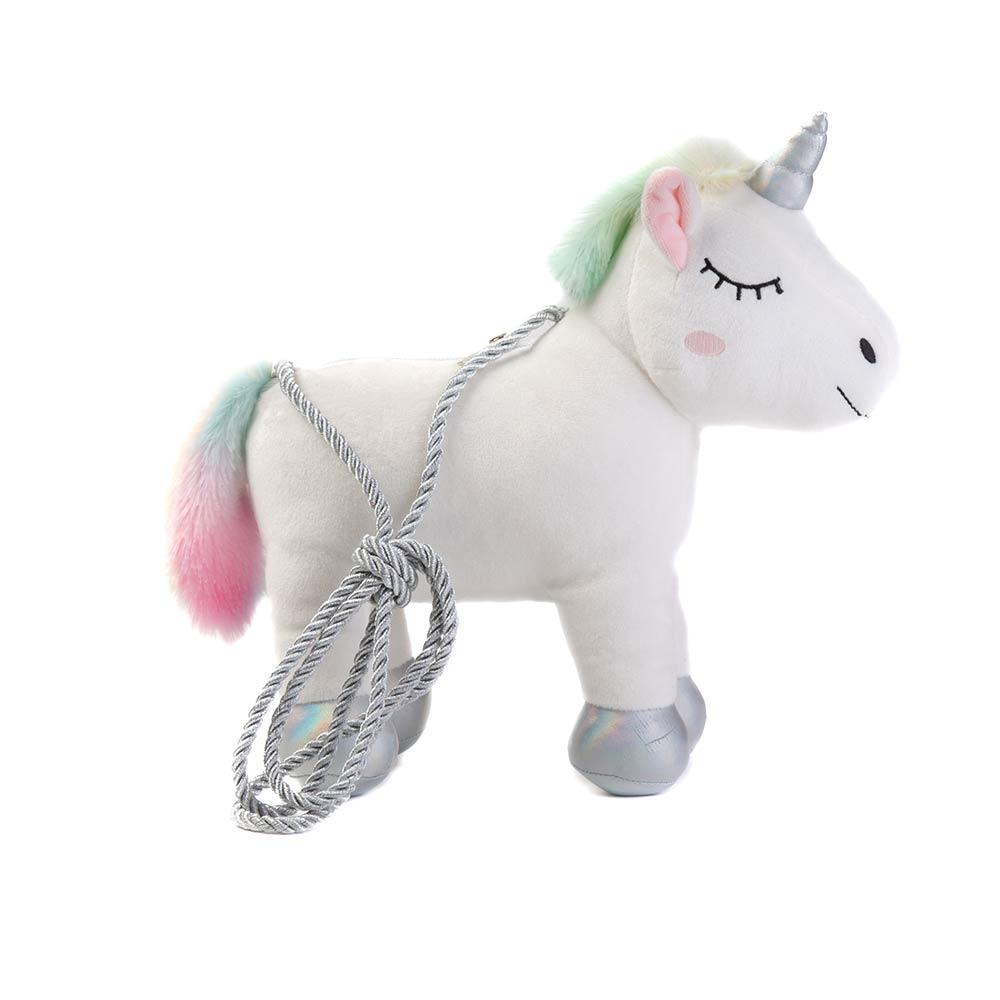 MOCHILA PELUCHE forma de unicornio