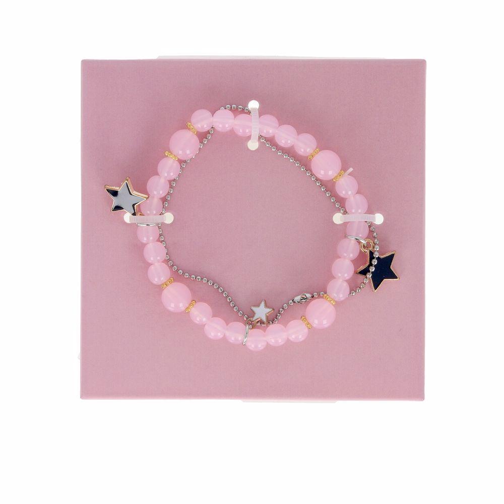 PULSERA DOBLE perlas y estrellas