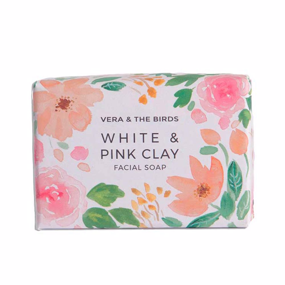 WHITE & PINK CLAY facial soap