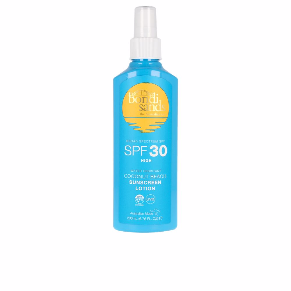 SPF30 coconut beach sunscreen lotion