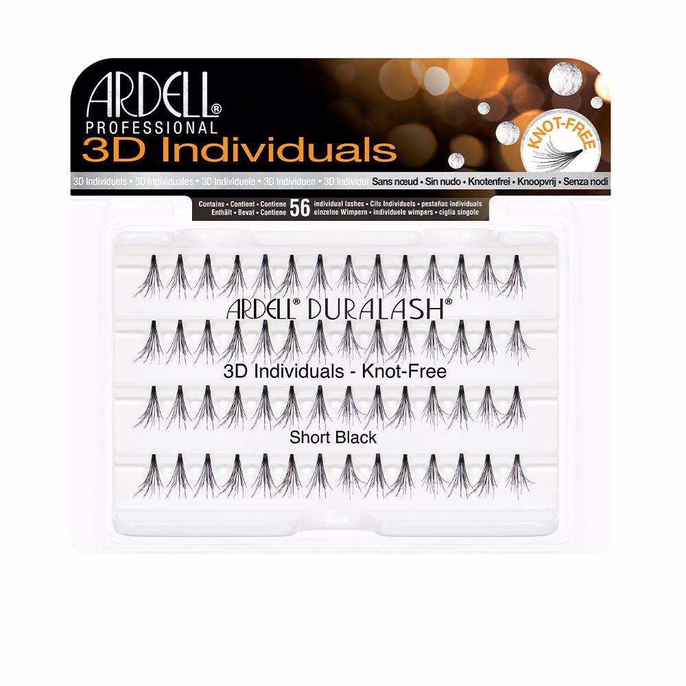 PESTAÑAS POSTIZAS 3D INDIVIDUALES #short black