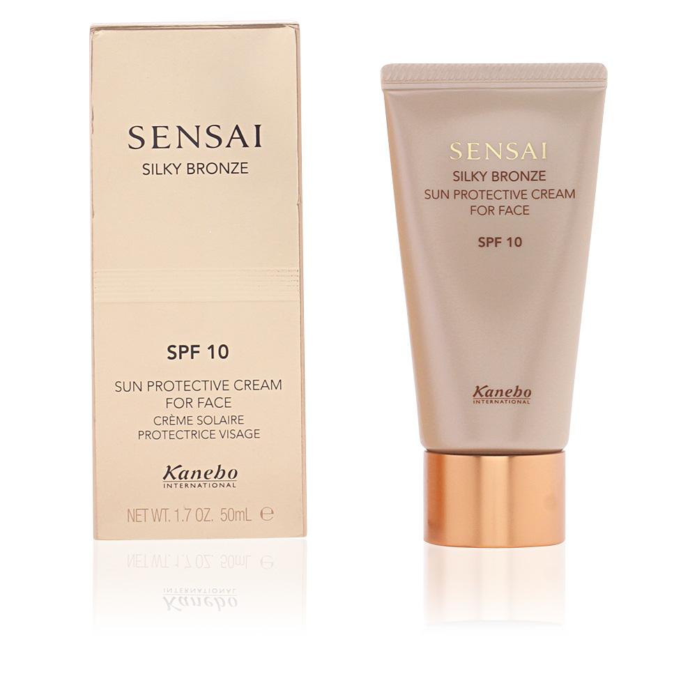 SENSAI SILKY BRONZE sun protective cream for face SPF10
