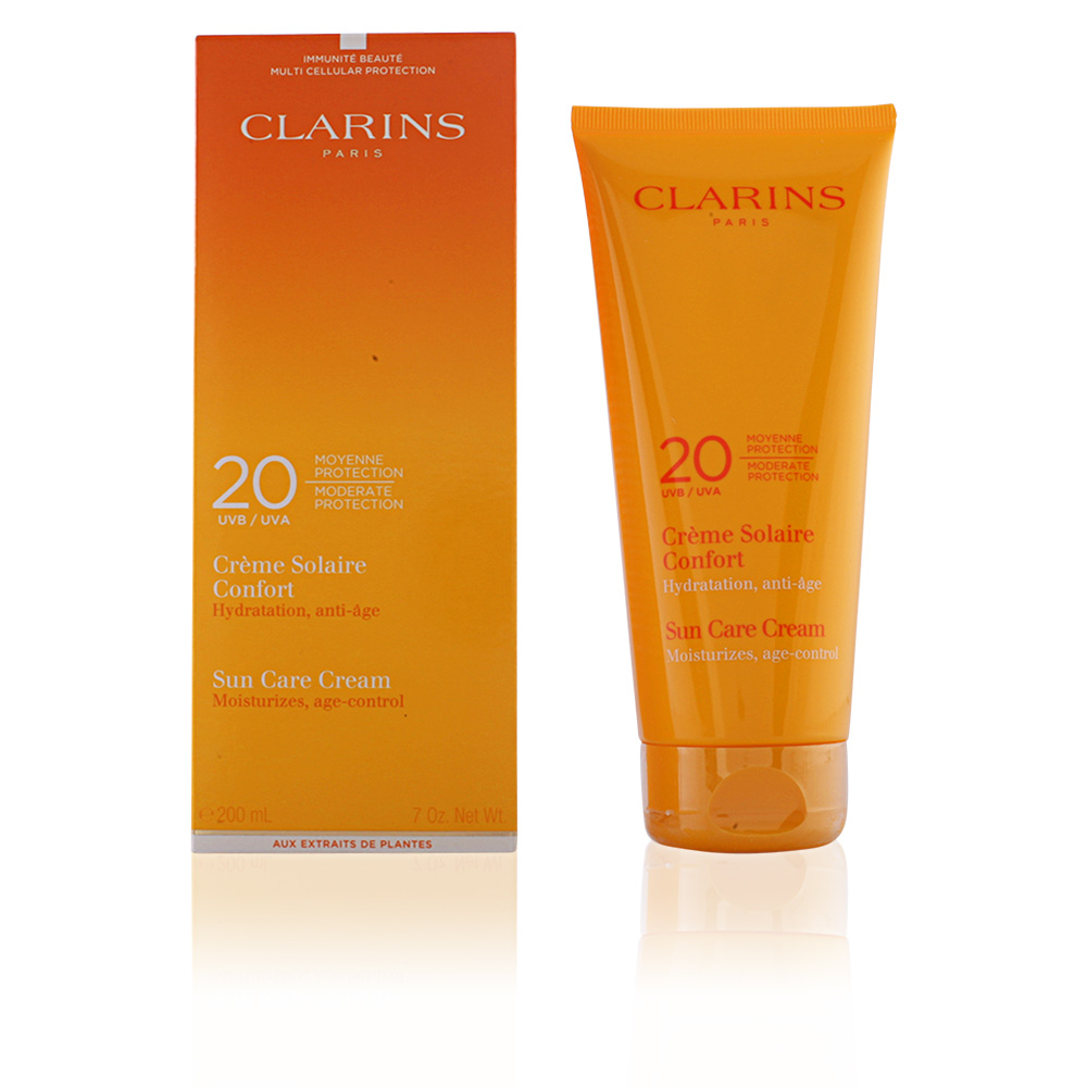 clarins sun cr me solaire confort spf20 corporales en perfumes club. Black Bedroom Furniture Sets. Home Design Ideas