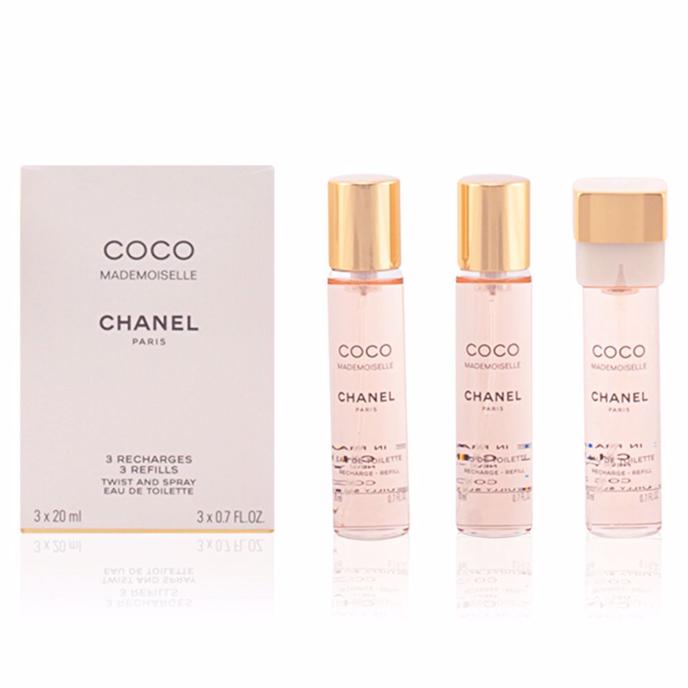 65fb41059c Chanel COCO MADEMOISELLE twist & spray 3 Refills. Eau de Toilette ...