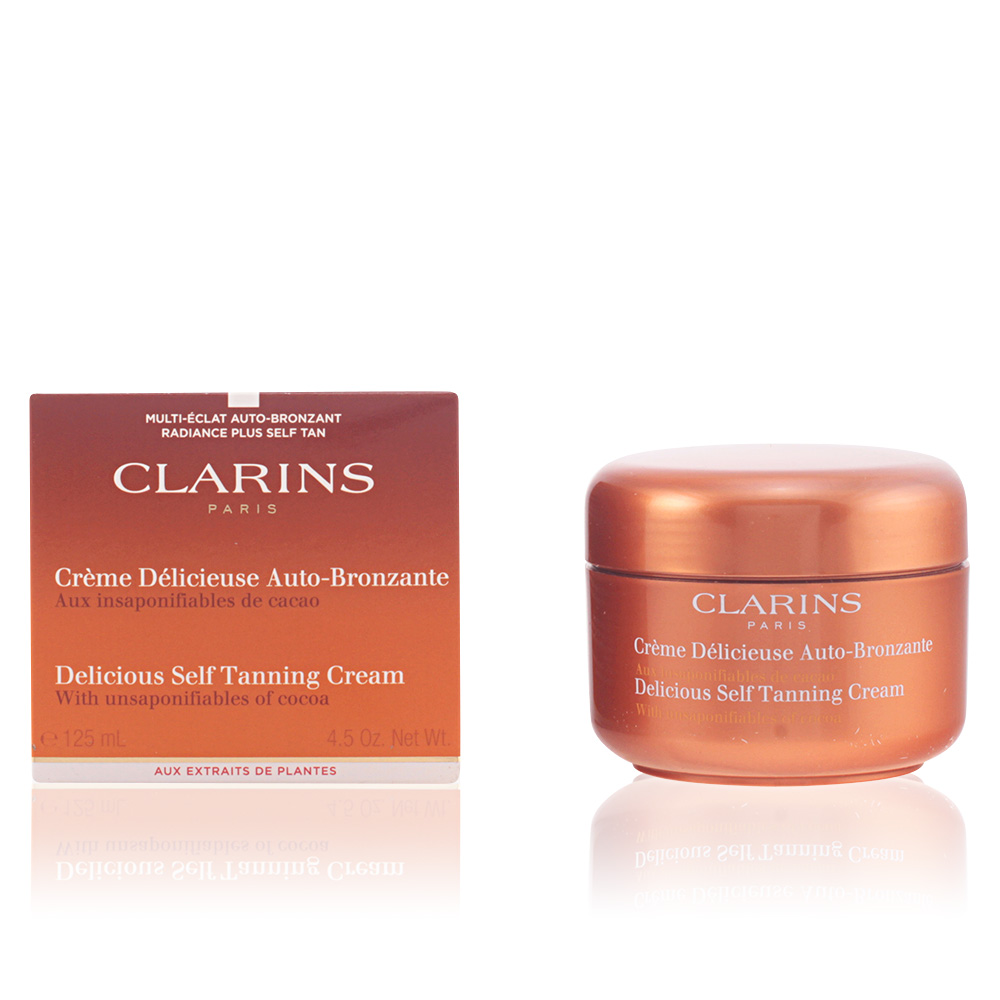 clarins solaires sun cr me d licieuse auto bronzante sur perfume 39 s club. Black Bedroom Furniture Sets. Home Design Ideas