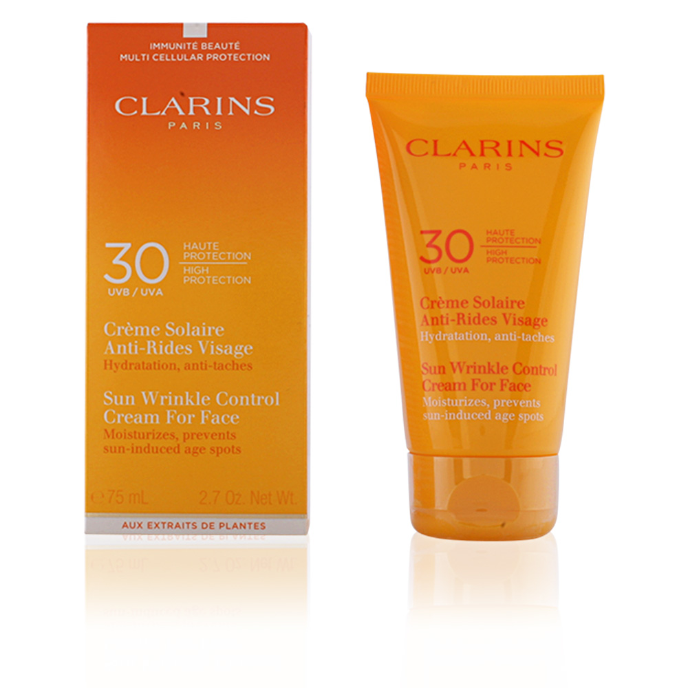 clarins facial sun cr me solaire anti rides visage spf30 products perfume 39 s club. Black Bedroom Furniture Sets. Home Design Ideas