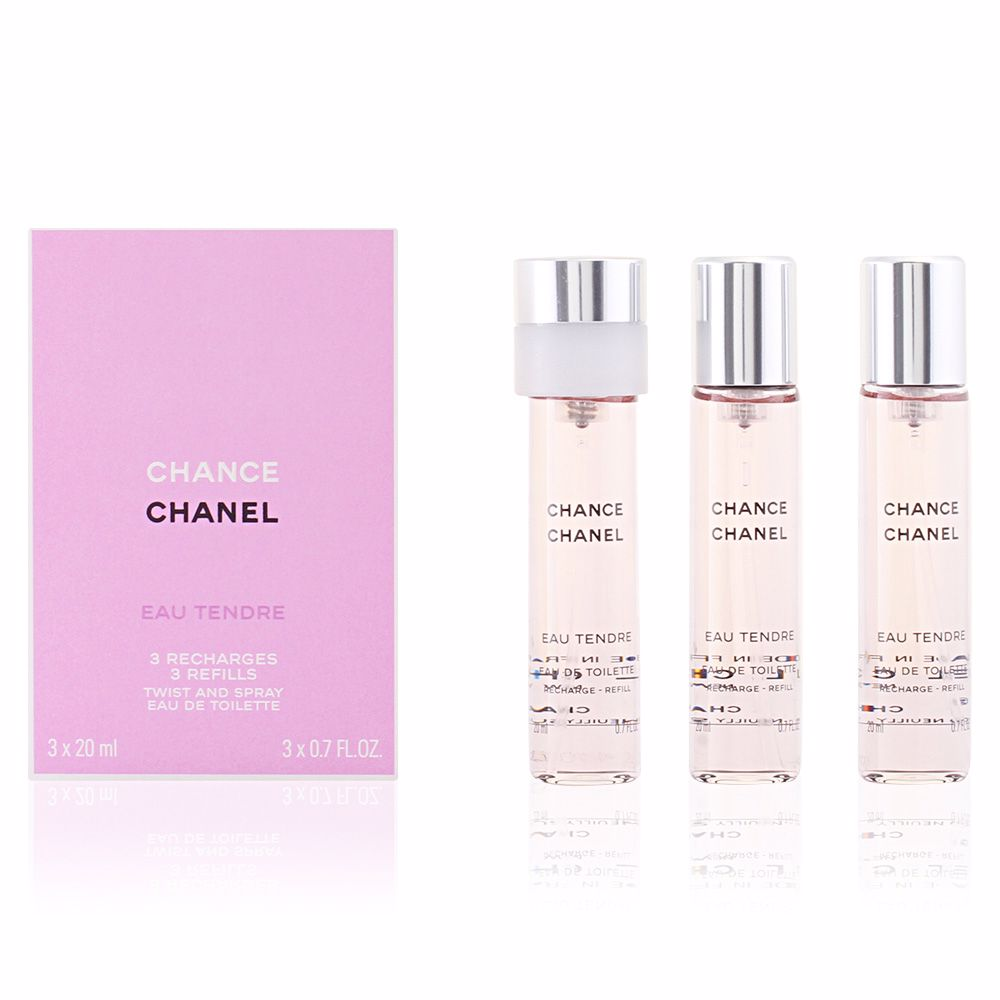 chanel perfumes chance eau tendre eau de toilette twist spray 3 refills products perfume 39 s club. Black Bedroom Furniture Sets. Home Design Ideas