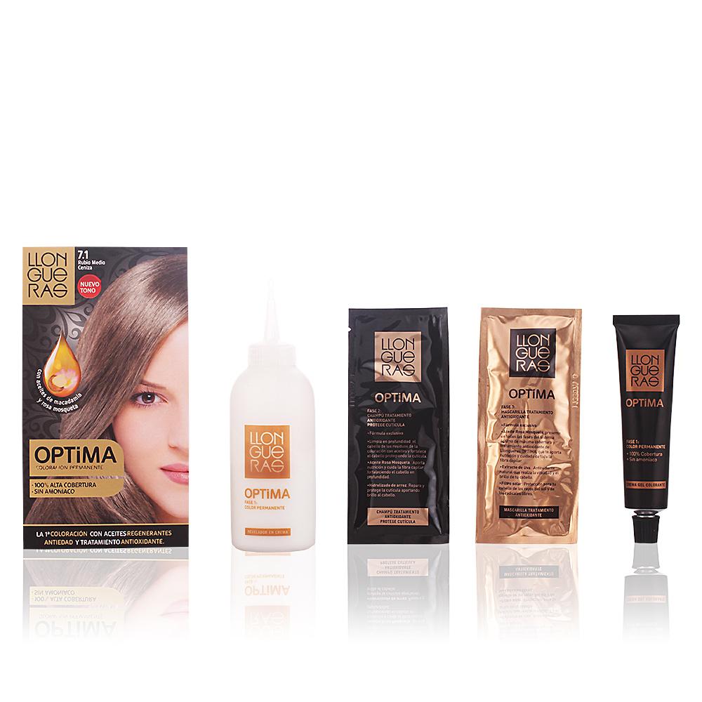 Llongueras Optima Hair Colour 71 Medium Blond Cendre Haar In